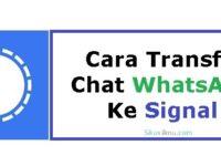 Cara Transfer Chat WA Ke Signal